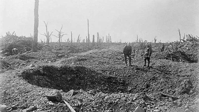 Image d'archive canadienne prise durant la bataille de la Somme, en octobre 1916.