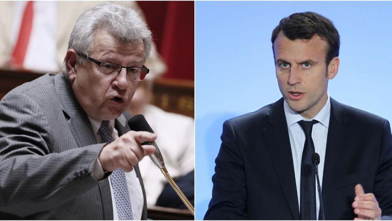 Christian Ecket, secrétaire d'État au Budget et Emmanuel Macron, ministre de l'Économie