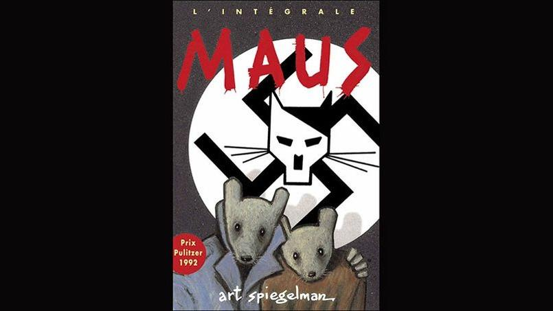 «Maus» entremêle sur 250 pages le témoignage du père d'Art Spiegelman rescapé des camps et sa relation difficile avec lui.
