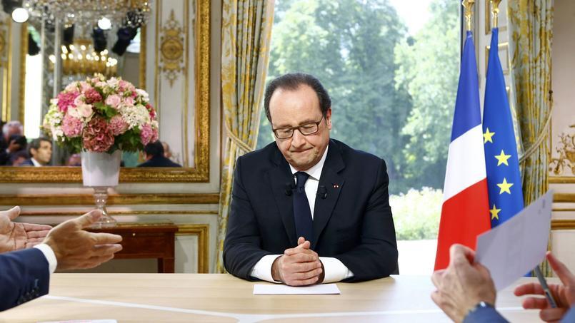 Le président de la République, jeudi à l'Elysée.