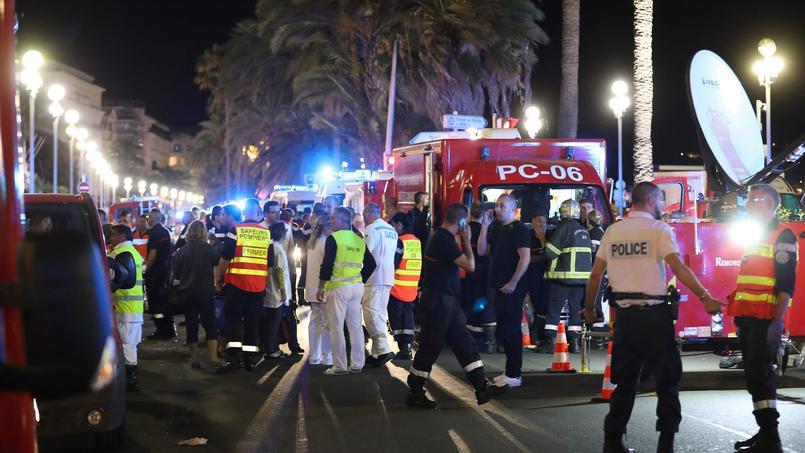 Scène de l'attentat à Nice.