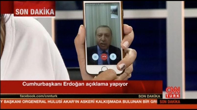 Recep Tayyip Erdogan sur la chaîne de télévision CNN Türk vendredi soir.