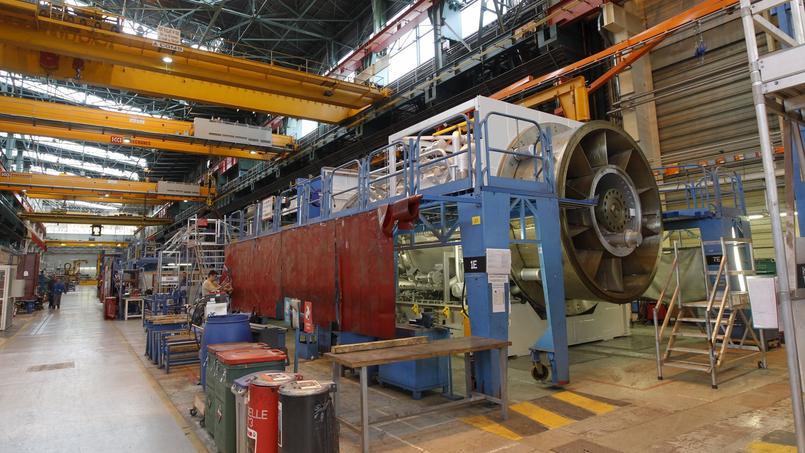 L'industrie n'a capté que 20 % de la créance. Ici, un site de fabrication de turbines à gaz et à vapeur de General Electric et de Alstom, à Belfort