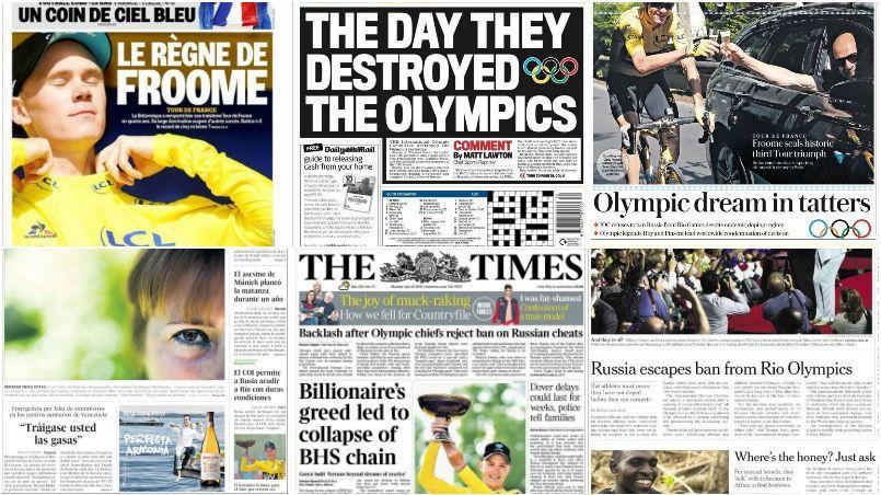 Le CIO a scandalisé l'ensemble des institutions antidopages ainsi que la presse internationale en décidant de ne pas exclure la Russie des Jeux olympiques de Rio.