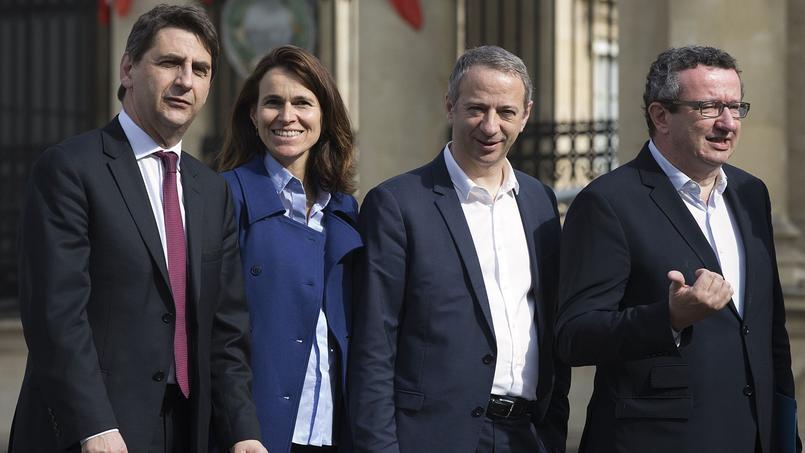 Les députés frondeurs, Daniel Goldberg, Aurélie Filippetti, Laurent Baumel et Christian Paul