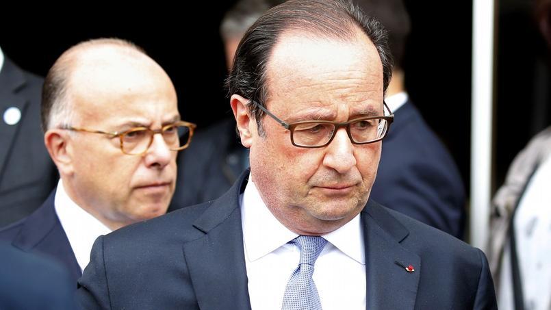 François Hollande à Saint-Etienne-du-Rouvray, le 26 juillet 2016.
