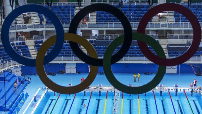 La piscine olympique de Rio.