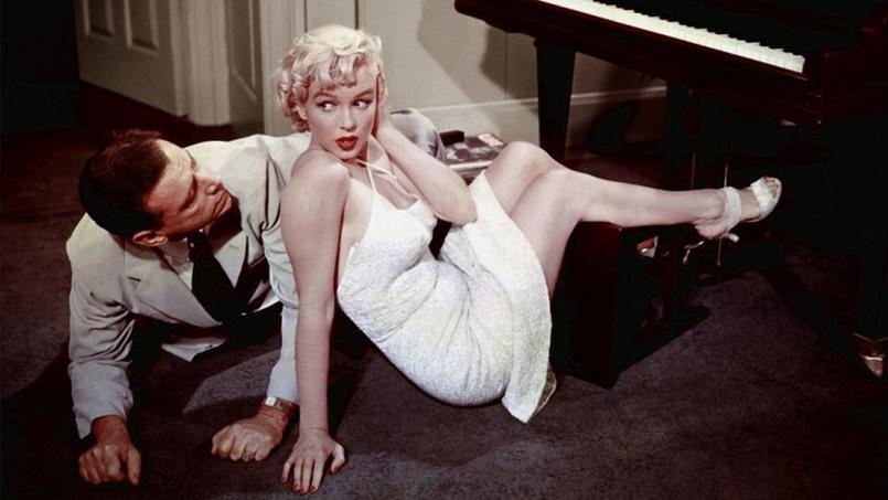 Marilyn Monroe et Tom Ewell dans Sept ans de réflexion (1955).