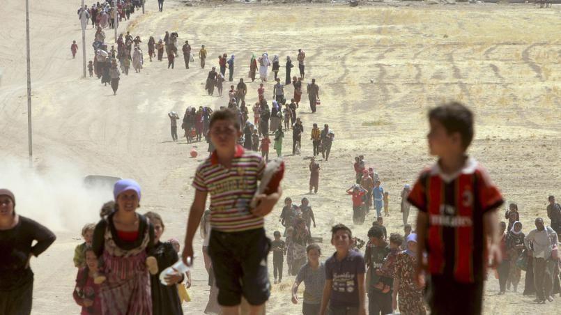 L'exode de la population yazidie de la ville de Sinjar (Crédits photo: STRINGER Iraq/reuters)