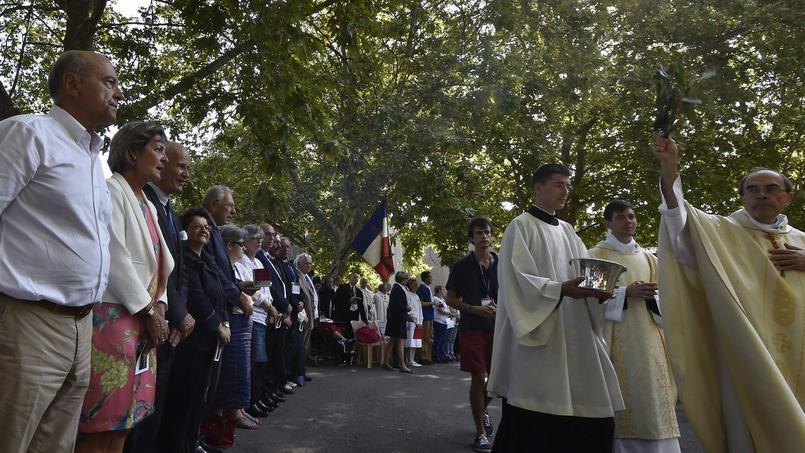 Alain Juppé, lundi 15 août à Lourdes (Hautes-Pyrénées)
