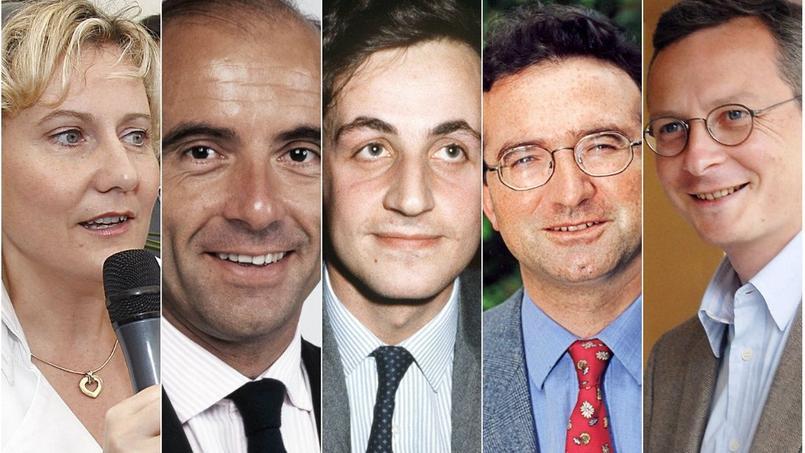 Nadine Morano, Alain Juppé, Nicolas Sarkozy, Hervé Mariton et Bruno Le Maire