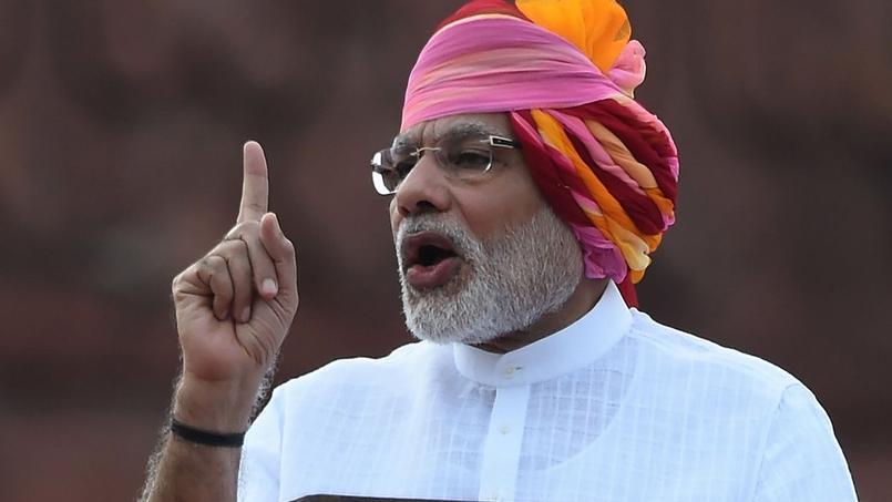 Narendra Modi, le premier ministre indien, le 15 août à New Delhi.