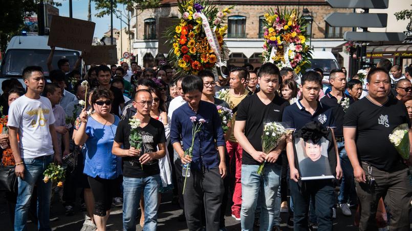 Une marche avait été organisée suite à la mort de Zhang Chaolin