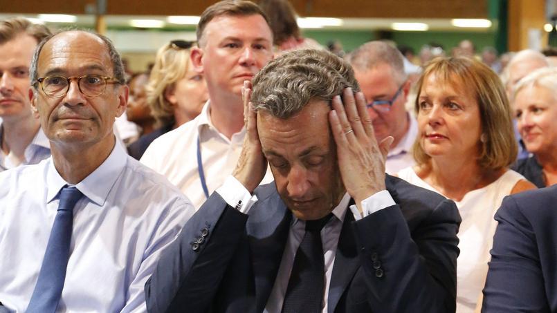 Le candidat à la primaire de la droite, Nicolas Sarkozy, lors d'un rassemblement au Touquet