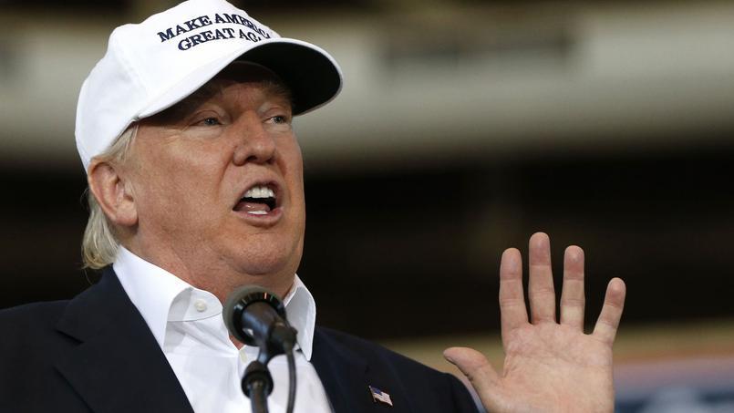 Donald Trump lors d'un meeting de campagne à Des Moines dans l'Iowa le 27 août.