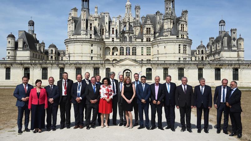 Les ministres européens de l'Agriculture ont posé devant le château de Chambord, où se tenait la réunion