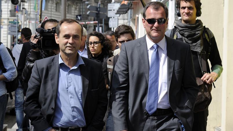 Robert Ménard, maire de Béziers, et Louis Aliot, vice-président du FN