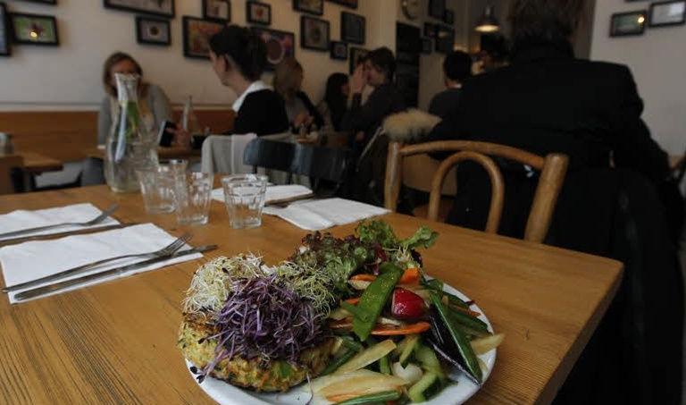 Le restaurant bio et végétarien «Supernature» à Paris   Crédits photo: Sébastien Soriano / Le Figaro