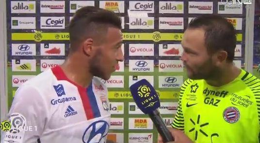 Lyon-Montpellier : la scène grotesque entre deux joueurs à la mi-temps
