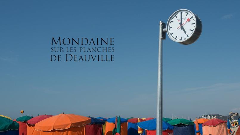 «Mondaine», horloger officiel des planches de Deauville (Crédit: Mondaine Montres France)