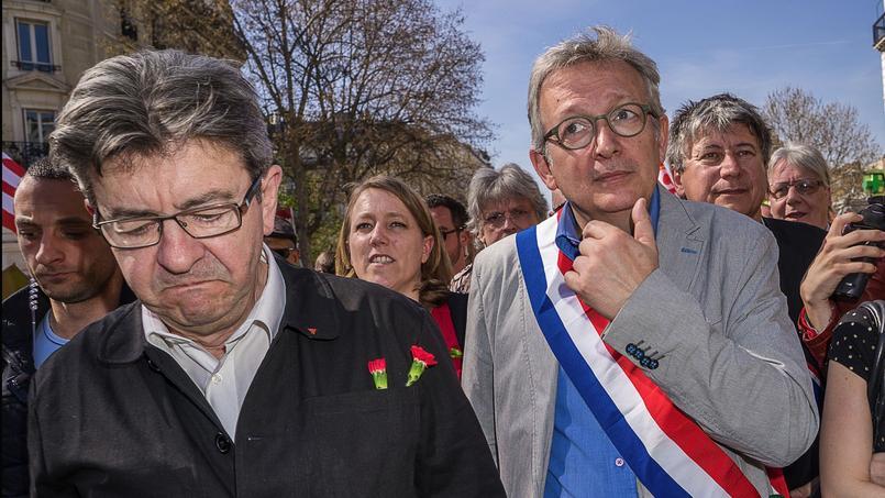 Jean-Luc Mélenchon, fondateur du Front de gauche, et Pierre Laurent chef de file du PCF