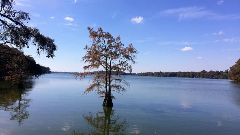 Le lac de Lake Providence sépare les pauvres, au sud (à gauche sur la photo), des riches, au nord (à droite).