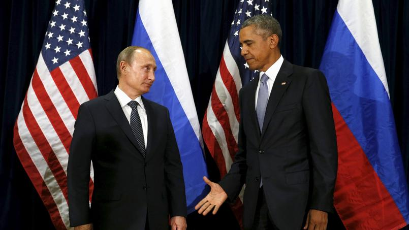Vladimir Poutine et Barack Obama.