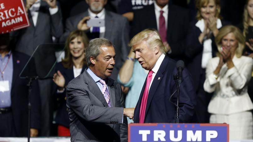 Nigel Farage a été invité à s'exprimer à l'un des meetings de Donald Trump ,dans le Mississippi, au mois d'août.