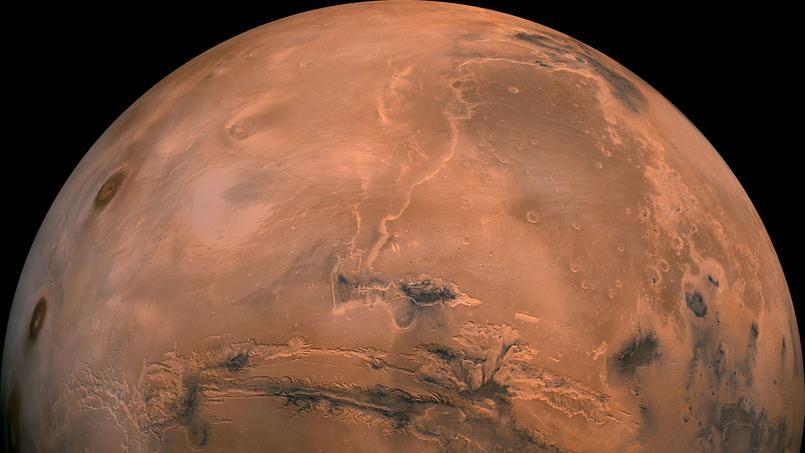 Une photographie de la Nasa montrant la planète Mars.