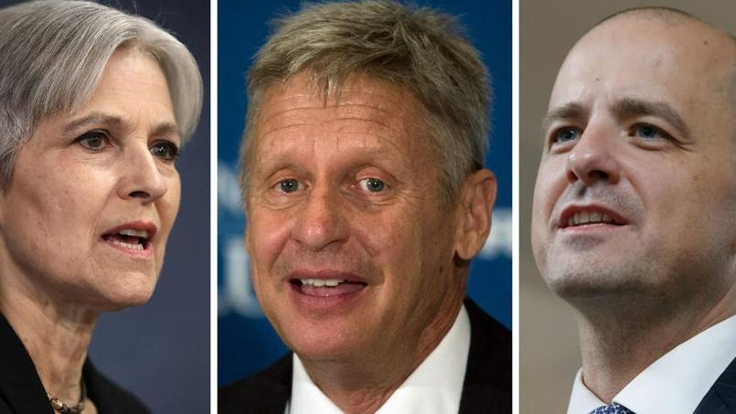 Jill Stein, Gary Johnson et Evan McMullin.
