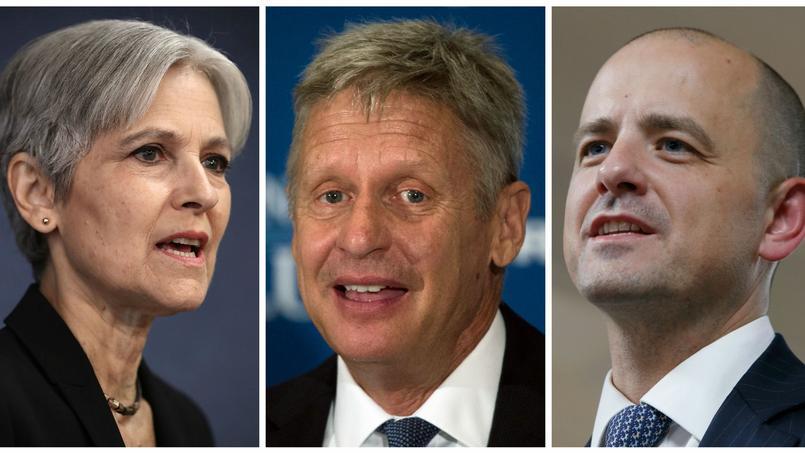 Jill Stein, Gary Johnson et Evan McMullin.