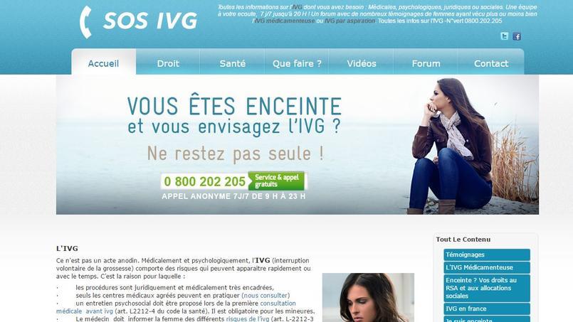 Crédits Photo: capture d'écran du site «ivg.net».