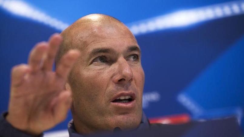 Zinédine Zidane en conférence de presse ce mardi à Madrid.