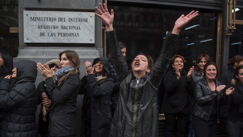 Mobilisation du mouvement #NiUnaMenos à Buenos Aires, ce mercredi.
