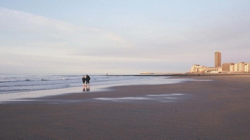Une plage de la région d'Ostende.
