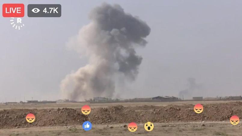 Avec la bataille de Mossoul, la guerre surgit en direct sur Facebook