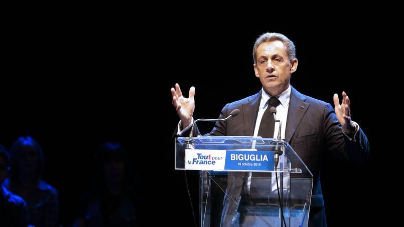 Nicolas Sarkozy, en meeting à Biguglia, en Corse, le 19 octobre 2016.