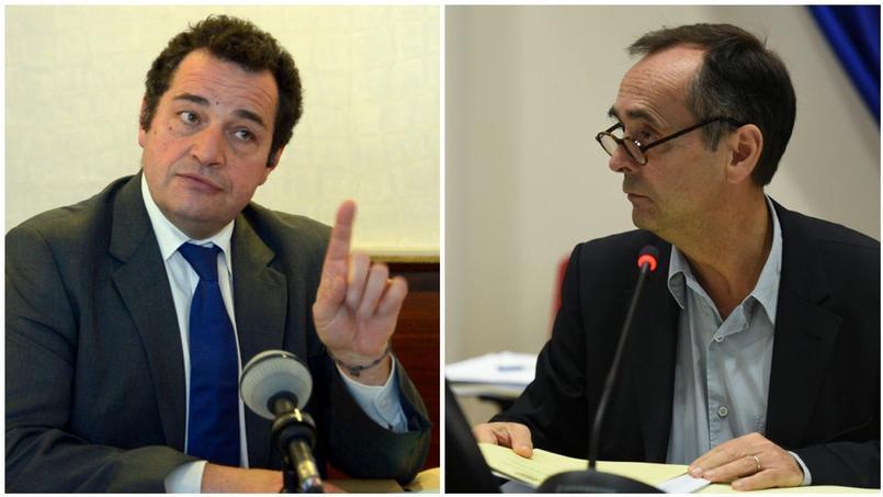 Le député PCD Jean-Frédéric Poisson et Robert Ménard, maire de Béziers, soutenu par le FN