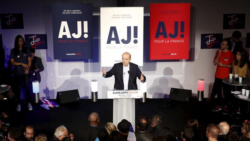 Alain Juppé en meeting à Malakoff le 8 octobre 2016.