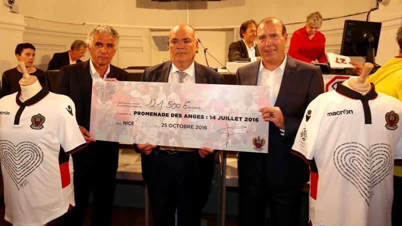 121.500 euros collectés par l'OGC Nice — Attentat de Nice
