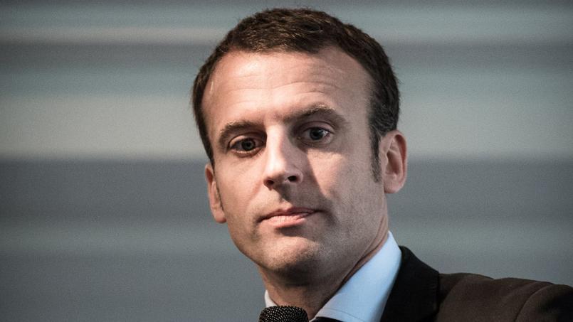 Emmanuel Macron, leader du mouvement En marche!
