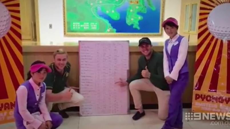 Deux touristes se font passer pour des golfeurs de l'équipe australienne en Corée du nord