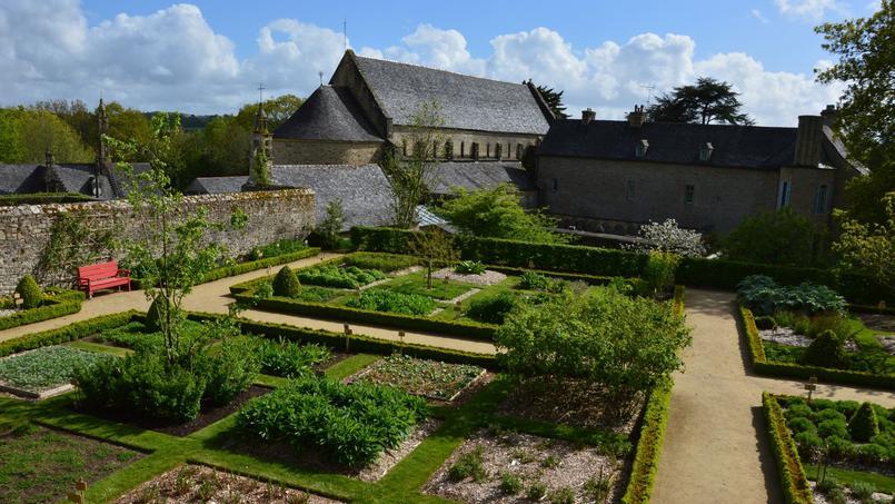 Le jardin de simples médiéval de l'abbaye de Daoulas. Photo: cdp29.