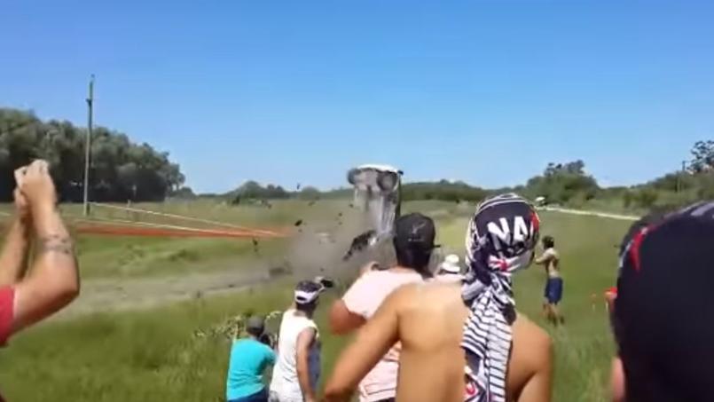 David Nalbandian victime d'un impressionnant crash en rallye