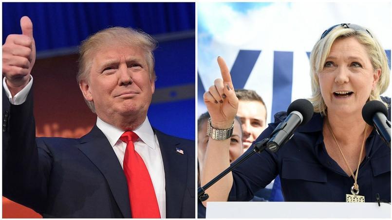 """Résultat de recherche d'images pour """"france, soutien de Trump à Le Pen, 2017"""""""