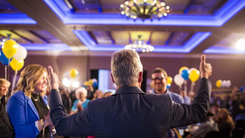 Le candidat libertarien Gary Johnson hier soir au Nouveau-Mexique