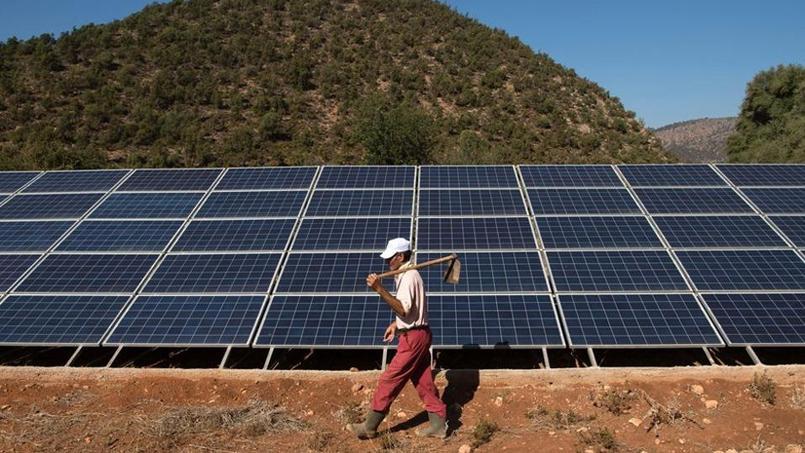 L'énergie solaire est importante dans un pays où le soleil règne 300 jours par an. (AFP PHOTO / FADEL SENNA)