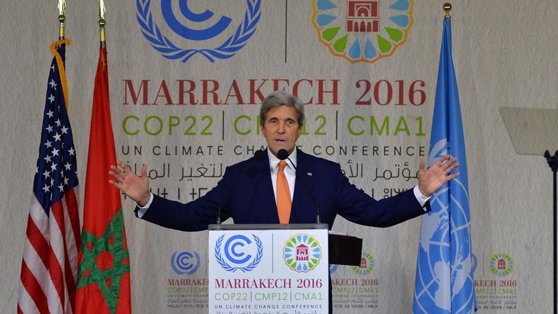 Le secrétaire d'État des États-Unis John Kerry, à Marrakech, mercredi 16 novembre 2016.