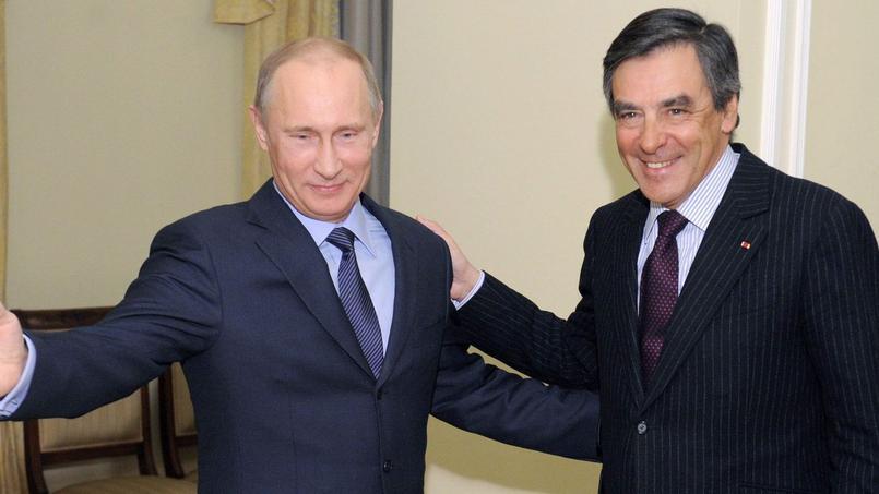 En 2013, le président russe Vladimir Poutine et François Fillon, alors député de Paris. Crédits Photos: REUTERS/Alexei Druzhinin/RIA Novosti.