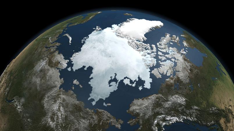 L'Arctique vue d'un satellite de la Nasa, en septembre 2010.